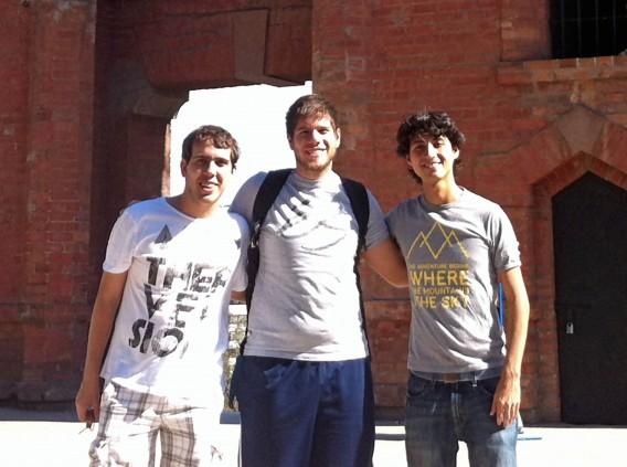 Fundadores da Splitplay, da esquerda para a direita: Henrique Bejgel, Eric Salama, Rodrigo Coelho