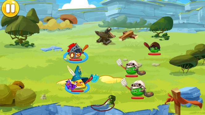 Angry Birds Epic mistura alguns elementos típicos de RPG com a essência do Angry Birds