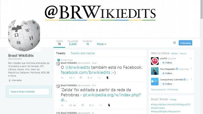 Brasil WikiEdits monitora mudanças na Wikipédia e alerta se origem vem de órgãos do governo