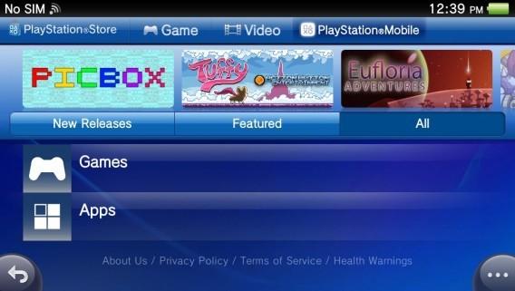 Imagem do PlayStation Mobile
