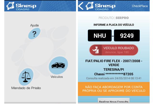 App Sinesp Cidadão aproxima cidadão da segurança pública