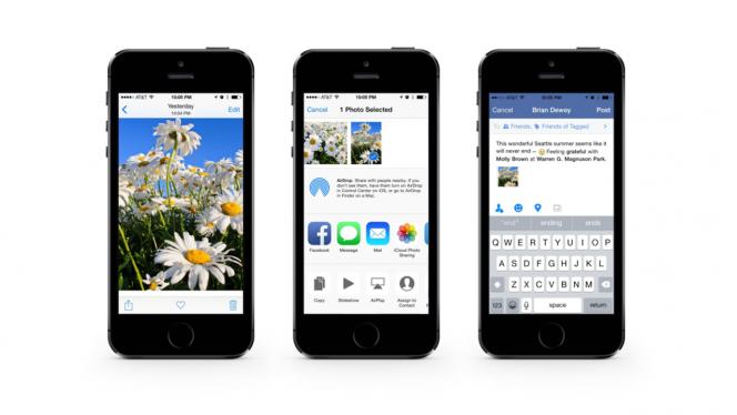 Facebook para iOS 8