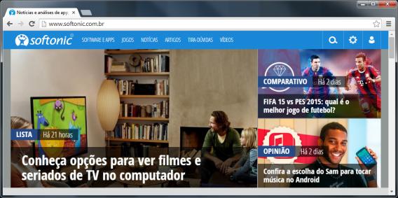 Google Chrome 37 no Windows 7