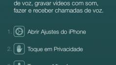 Mensagem no WhatsApp para iOS sugere novamente chamadas de voz no app