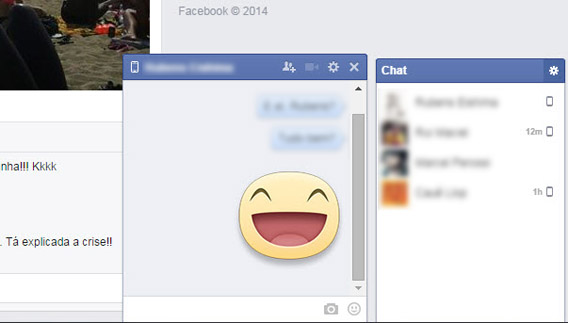 Facebook Messenger inclui emoticons e stickers