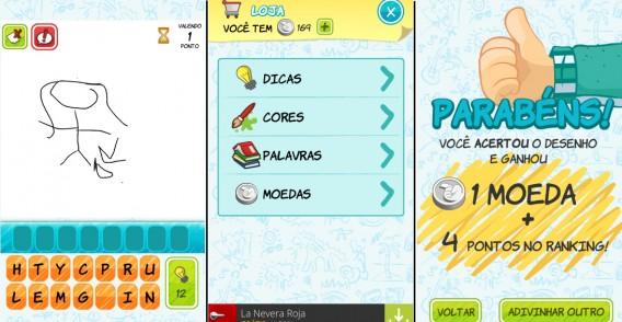 Interface do app Imagem e Ação