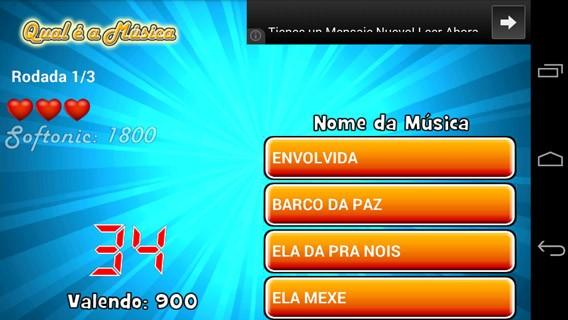 Qual é a Música para Android permite escolher entre músicas brasileiras e internacionais