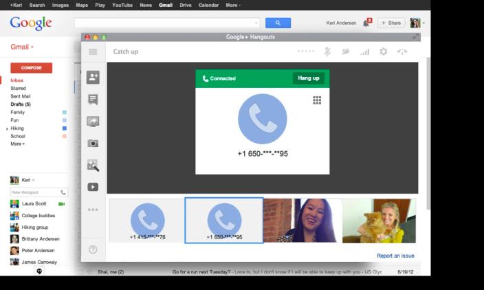 Integração com outros serviços do Google é o ponto forte do Hangouts