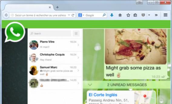 Simulação do WhatsApp no navegador