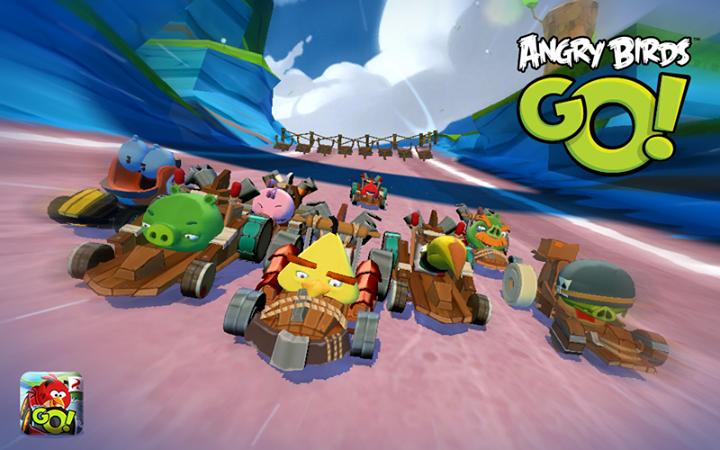 Angry Birds Go! lança o jogador numa disputa em alta velocidade