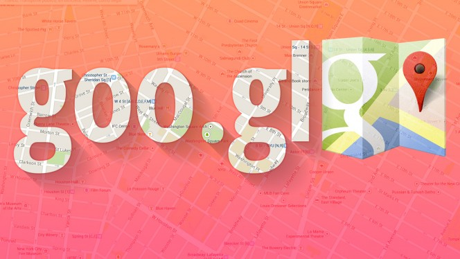 Compartilhar mapas do Google Maps com URL curta