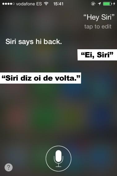 Siri responde a cumprimentos