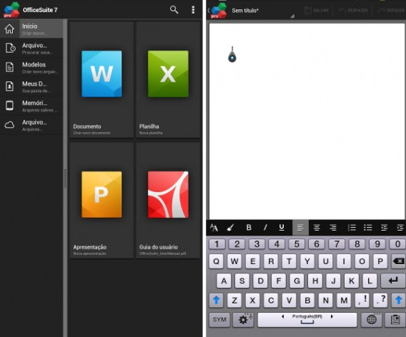 Officesuite7 é versátil na edição e exibição