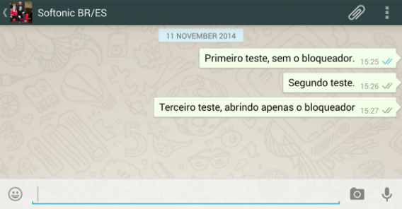 Remetente das mensagens do WhatsApp