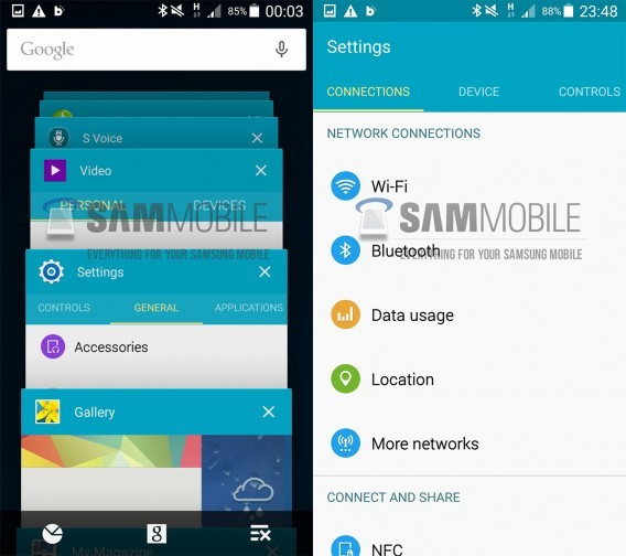 Interface TouchWiz Android Lollipop