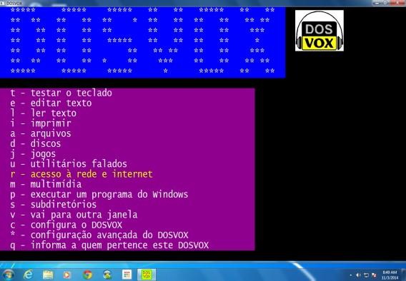 Listas de coisas a fazer no DosVox
