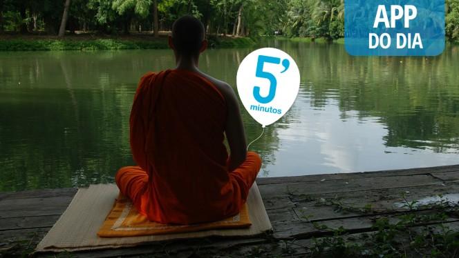 App do Dia: 5 Minutos - Eu medito, um incentivo para praticar a meditação