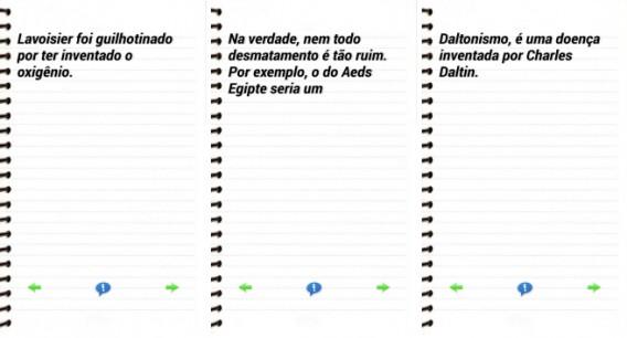 Interface do aplicativo Pérolas do Enem
