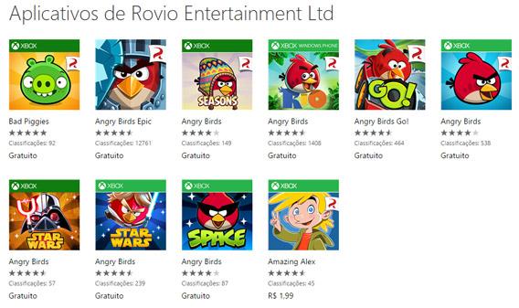 Todos os jogos da série Angry Birds para Windows Phone estão grátis
