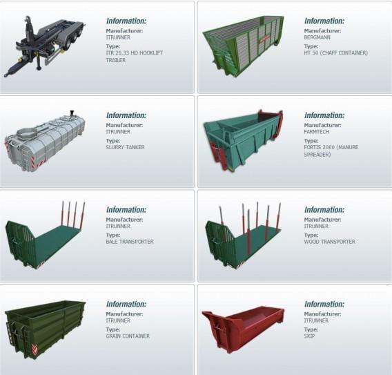 Equipamento incluídos no DLC ITRunner para Farming Simulator 2015
