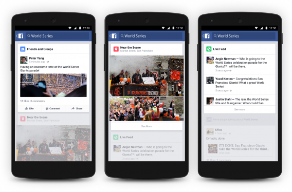Trending Topics no Facebook para Android
