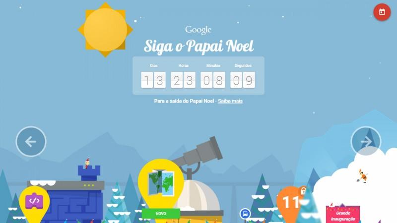 Google distribui presentes de Natal a cada dia de dezembro