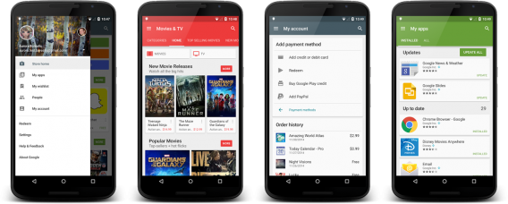 Novo Google Play Store 5.1