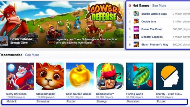 Novidades na seção de Games do Facebook
