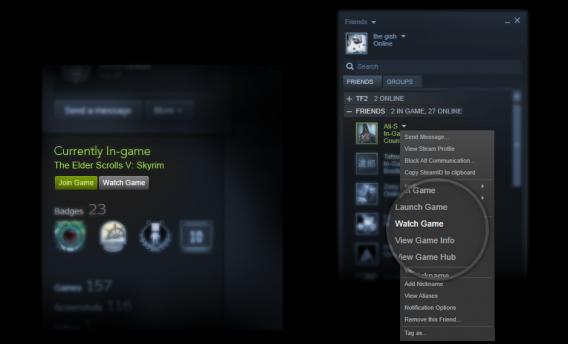 Como assistir a streaming de games no Steam