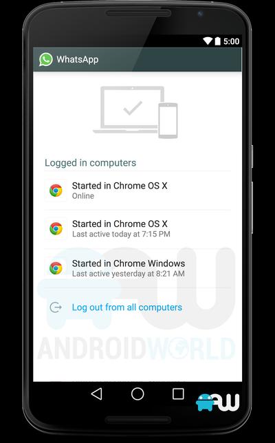 Lista de locais onde o usuário fez login no WhatsApp inclui Chrome Windows