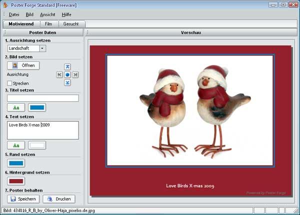 Effekte und Rahmen für digitale Weihnachtsbilder