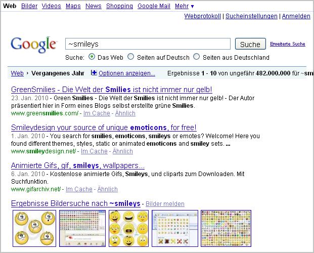 Bessere google ergebnisse per synonym suche - Synonym am besten ...