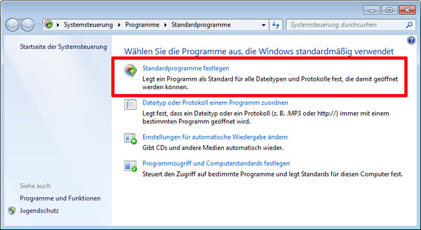 Standard player festlegen windows 10