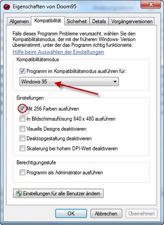 Doom 95 unter Windows 7 starten