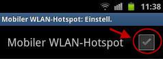 WLAN-Hotspot aktivieren
