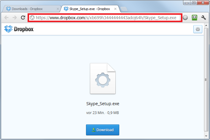 Download a program file from a dropbox link (on a pc) – fred pryor.