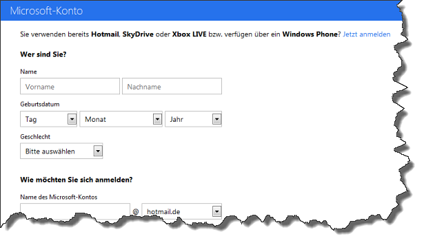 Microsoft-Konto erstellen