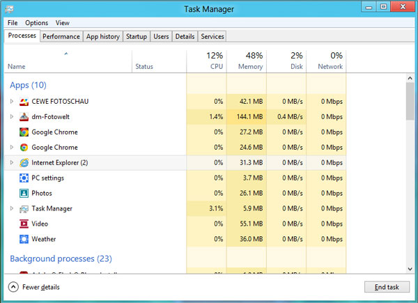 Windows 8 Task-Manager