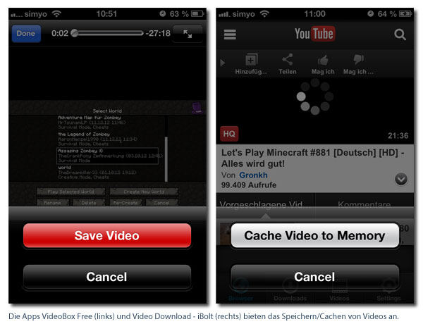 YouTube-Videos mit iPhone herunterladen