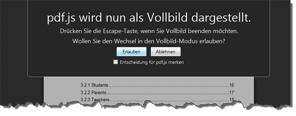 Firefox 19 Vollbildmodus