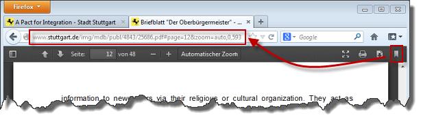 Firefox 19 PDF aktuelle Ansicht