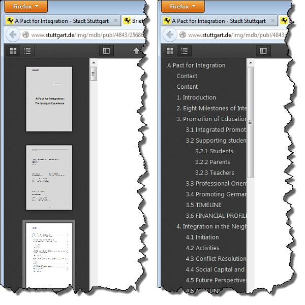 Firefox 19 PDF Inhalt