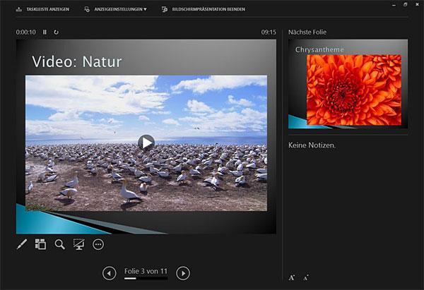 Microsoft Powerpoint 2013 Referentenansicht