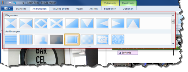Windows Movie Maker Animationen