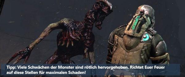 Dead Space 3: Schwächen nutzen!