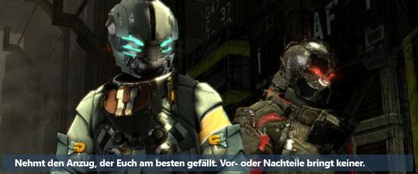 Dead Space 3: Freie Anzugwahl