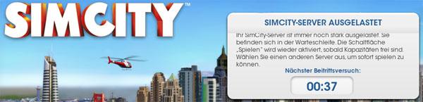 SimCity: Server-Probleme