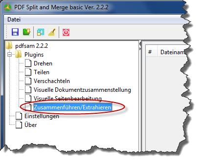 PDFsam - Zusammenführen