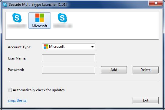 Seaside Multi Skype Launcher - Konfiguration