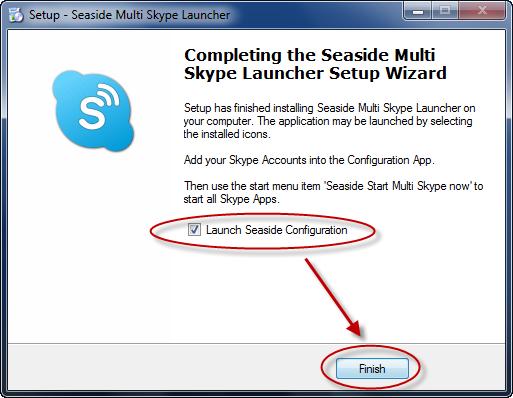 Seaside Multi Skype Launcher - Installation